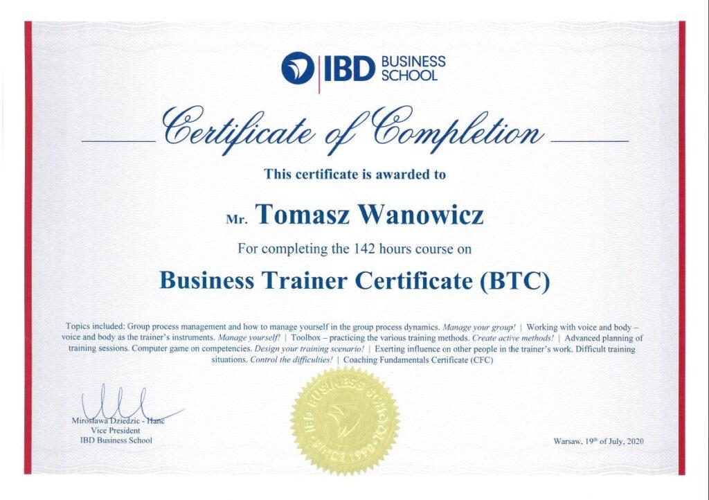 Certyfikat IBD